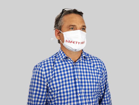 Maske ohne Nasenbügel Weiß