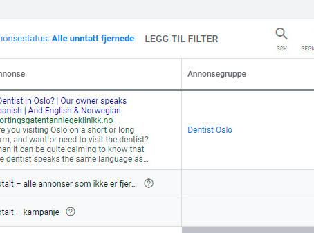 """SØKEORD: """"Dentist Oslo"""""""