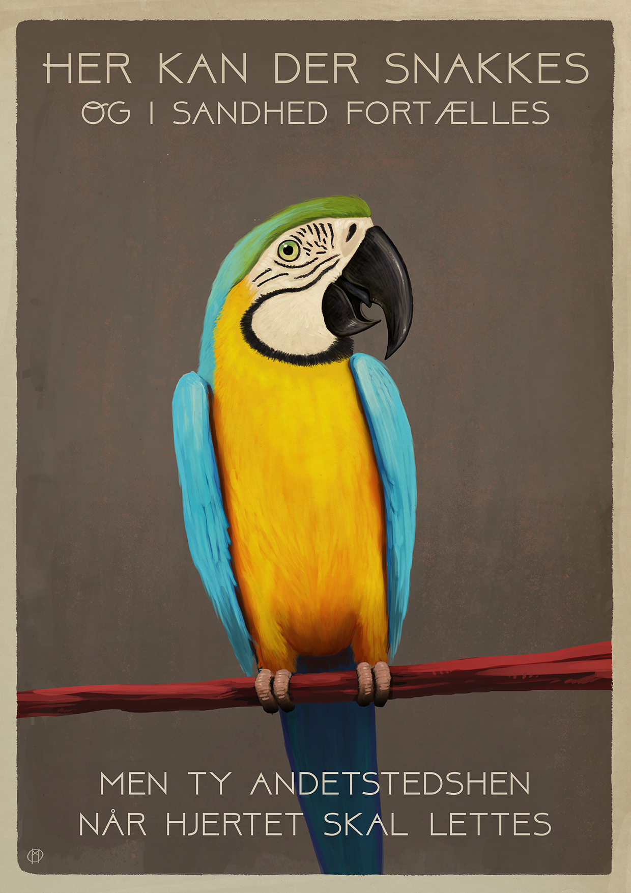 Office rule: The parrot