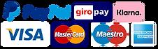 Zahlungsmethoden von Biscuits Bredaland. PayPal, Klarna, Kreditkarte, Visa, Mastercard, AX, Giropay.