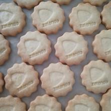 Kekse mit Firmenlogo von Biscuits Bredal