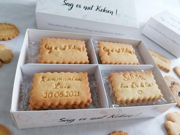 Sag es mit Keksen! Leckere Butterkekse aus Berlin.