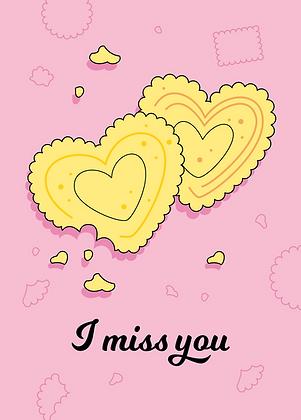 I miss you - Grußkarte A6 Format