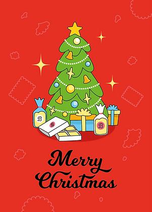Merry Christmas - Grusskarte A6 Format