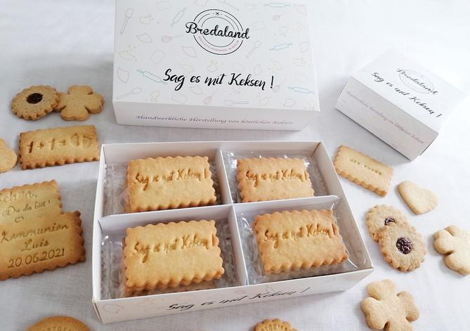 Keks-Boxen von Biscuits Bredaland. Kekse online selber gestalten.
