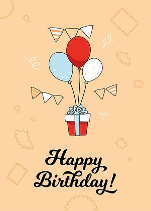 Happy Birthday - Grußkarte A6 Format