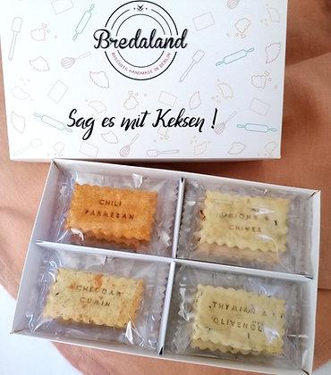 Apérobox - 24 personalisierte Kekse, mit 4 herzhaften Kekssorten & 2 Nachrichten