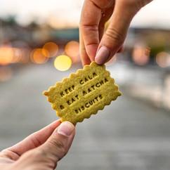 Matcha Kekse aus Berlin