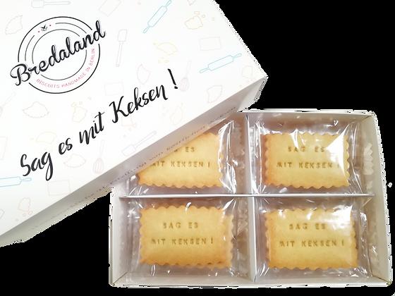Deluxe Biscuit-Box - 24 Kekse,  Auswahl von 2 Nachrichten & 2 Kekssorten
