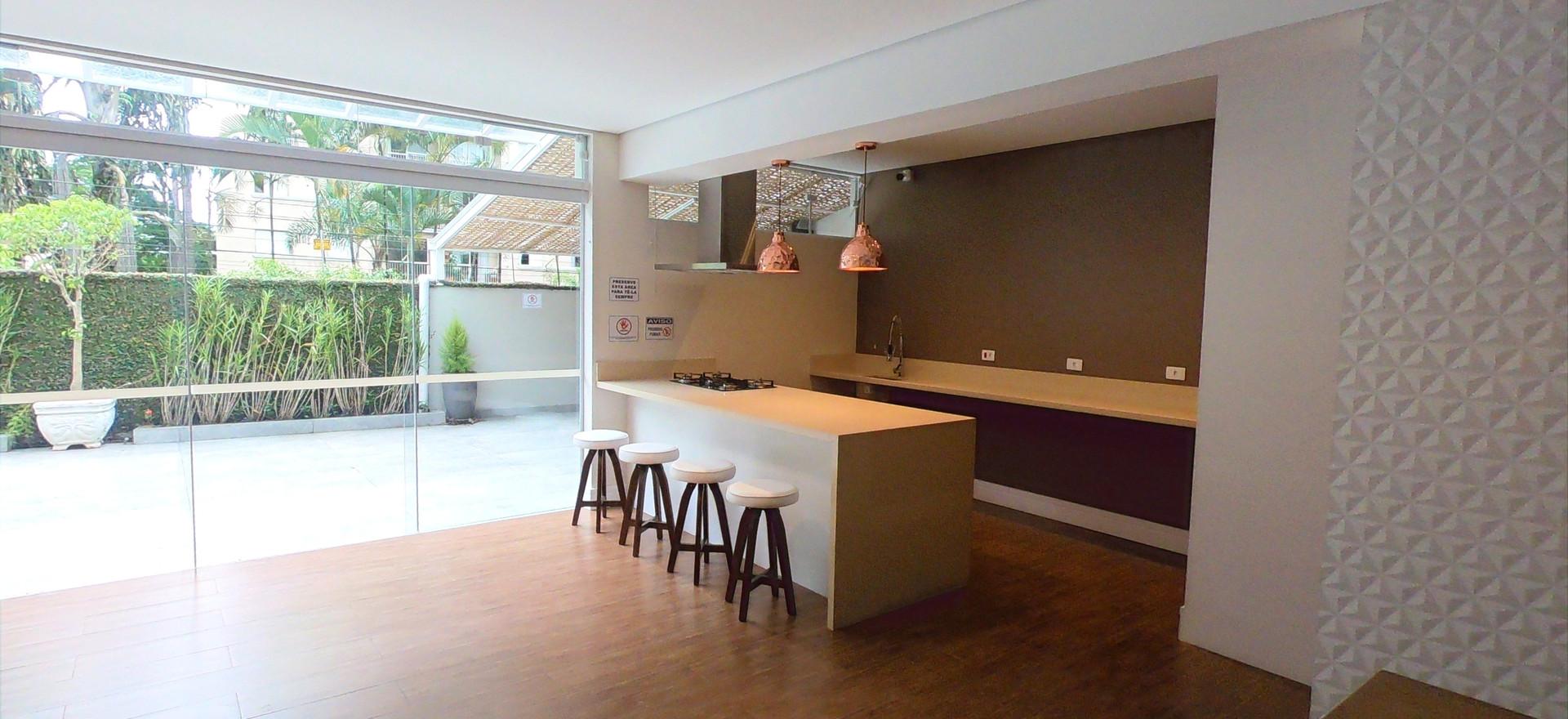 Cozinha gourmet salão
