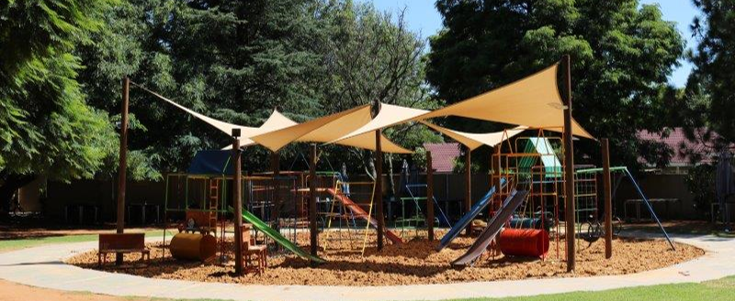 Play area at the Parks