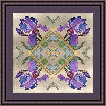 Перуника - схема для вышивания