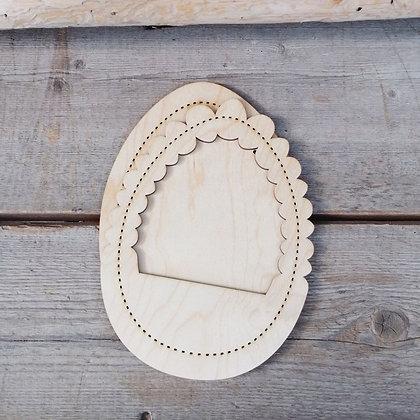 Яйцо-рамка из фанеры