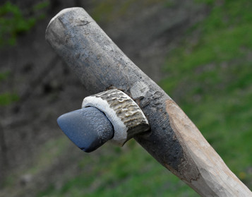 Functional replica of Scandinavian stone axe from the Neolithic