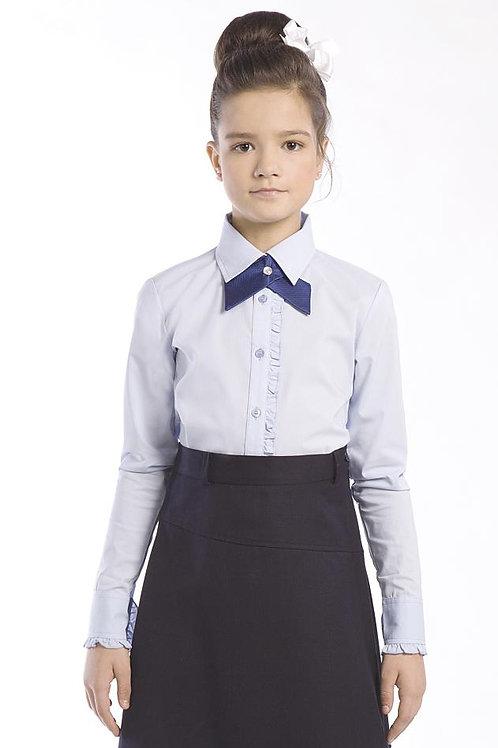 Блузка для девочки 2-22 голубая