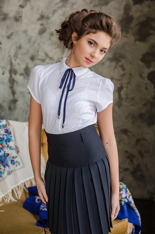 Блузка для девочки 216 белая