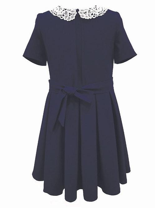Платье D20-01 синее, рукав 3/4