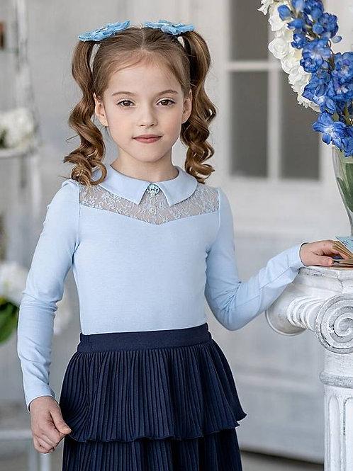 "Блузка для девочки ""Таня"" голубая"