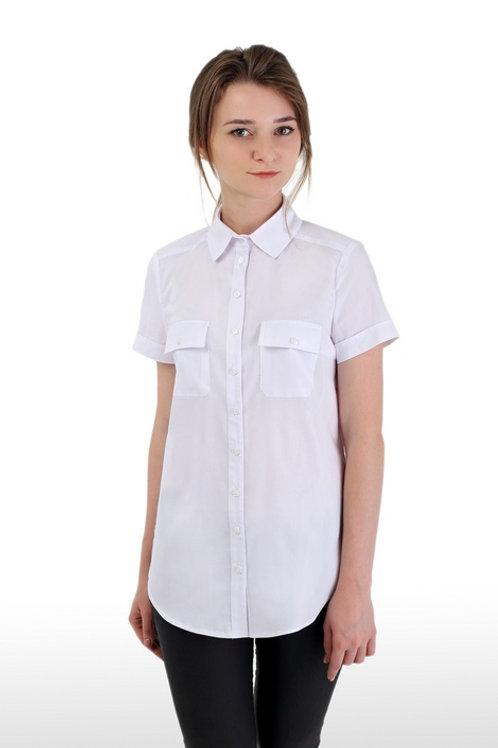 Блузка для девочки 372-1 белая
