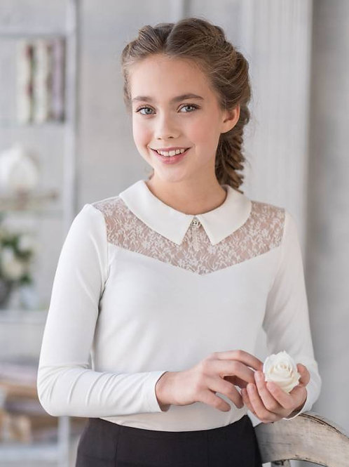 """Блузка для девочки """"Таня"""" белая"""