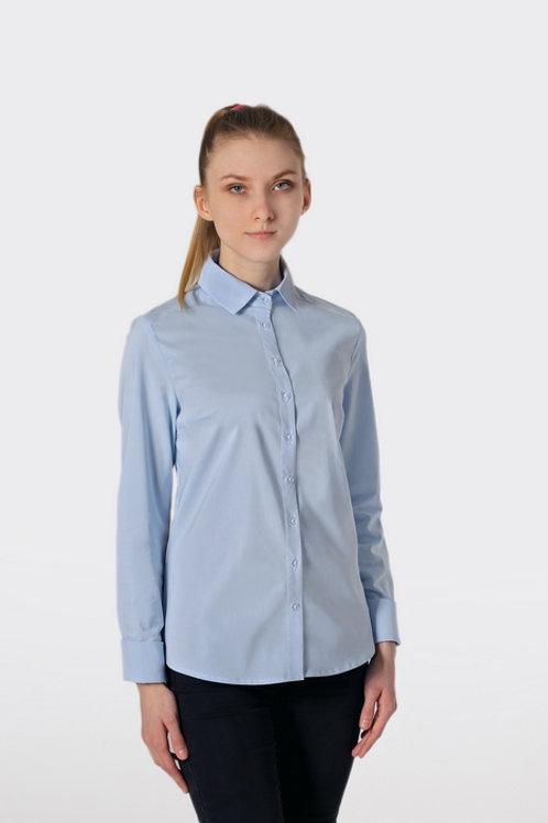 Блузка для девочки 072 голубая