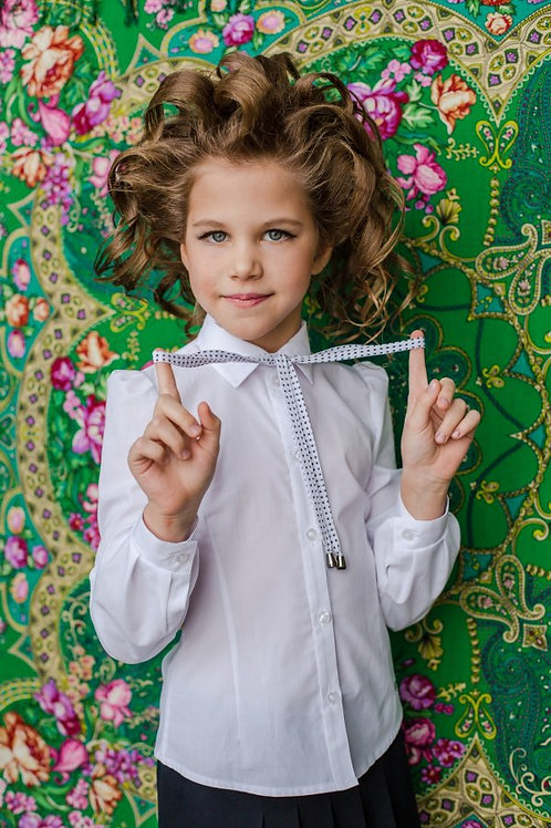 Блузка для девочки 116 белая