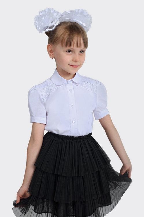Блузка для девочки 103-1 белая