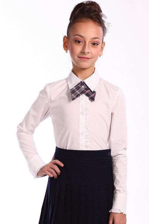 Блузка для девочки 1-22 белая