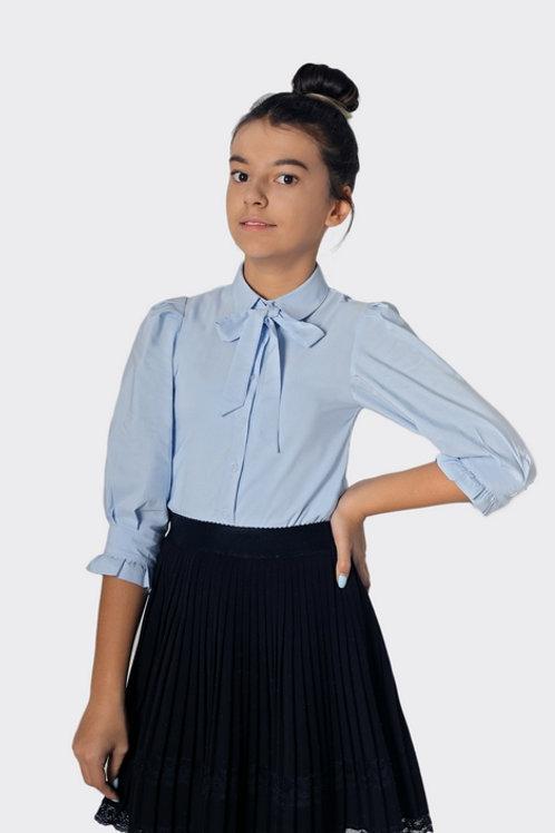 Блузка для девочки 803 голубая