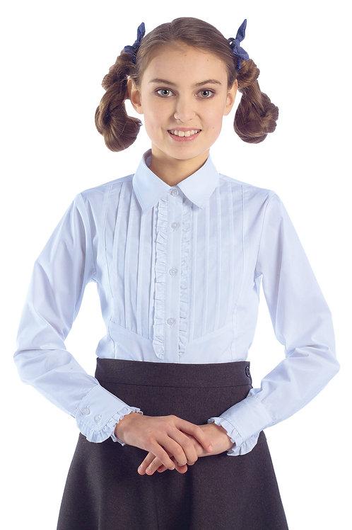 Блузка для девочки 2-23 голубая