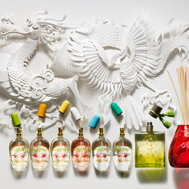 Dragon with perfumes