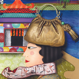 Shanghai Lady with bag hat and scarf