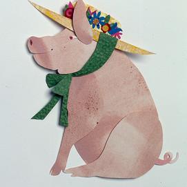 Pig in Bonnet
