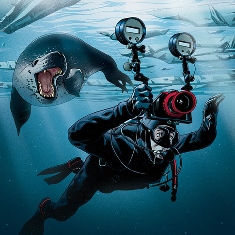 Chased by a Leopard Seal