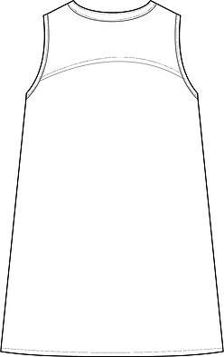 Technische tekening blouse achter final.