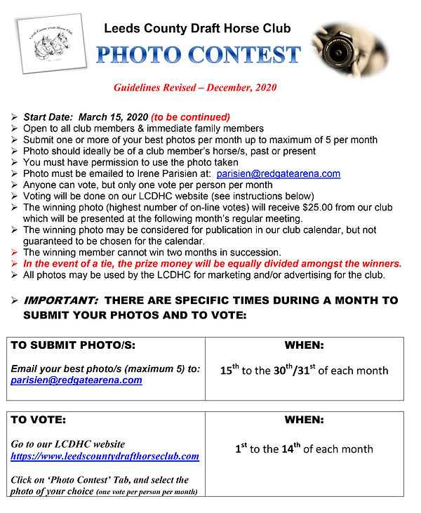 20 12 22 Photo Contest Guidelines REVISE