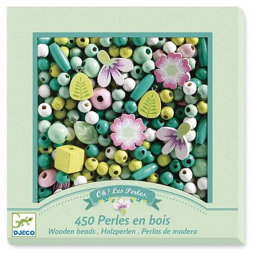 450 perlas en bois - Djeco