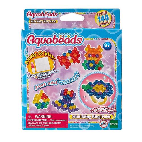 Paquete De Anillos Mini Bling Aquabeads