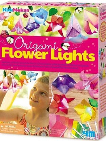 Flores de Origami con Luz