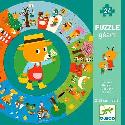 Puzzle Giant el Año - Djeco