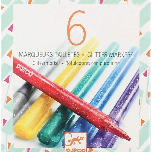 6 Marcadores Glitter
