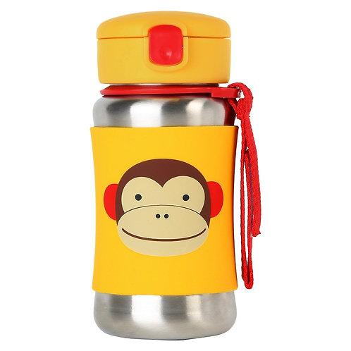 Botella Mono con Pajita Acero
