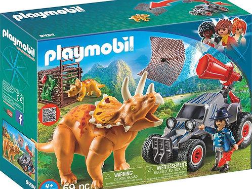 Vehículo con Triceratops