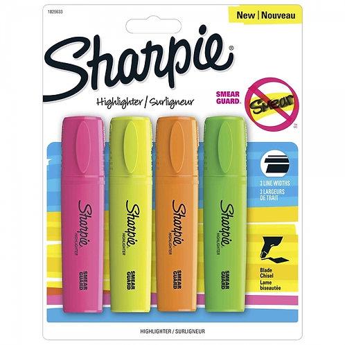 Resaltadores Sharpie x4