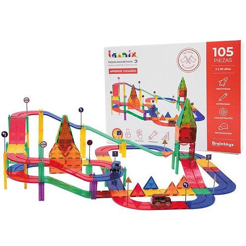Imanix - 105 piezas - Pista de Carreras