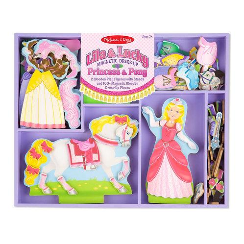 Princesas y Ponis para vestir Magnéticos