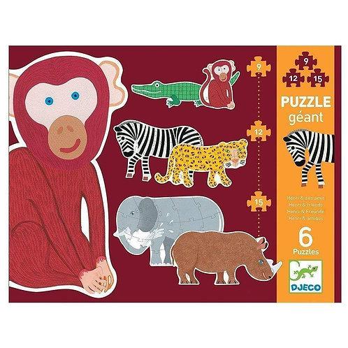 Puzzle Geant Animales - Djeco