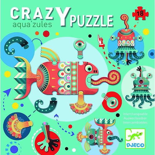 Crazy Puzzle Aquazules - Djeco