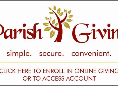 Parish Giving, September 2020