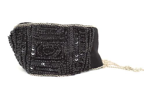 Black Chiffon Wrap
